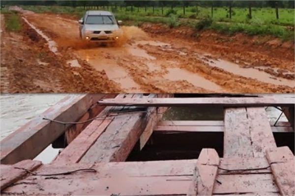 Atoleiros e estradas destruídas pelas chuvas em MT repercutem no Jornal Nacional