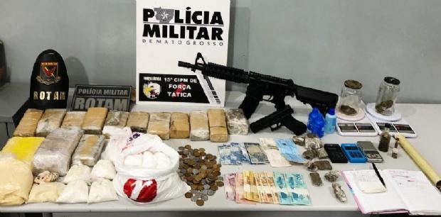 Rotam prende traficante com fuzil em frente de residência em Várzea Grande