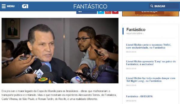 Silval Barbosa foi tratado como presidiário, em reportagem da Globo