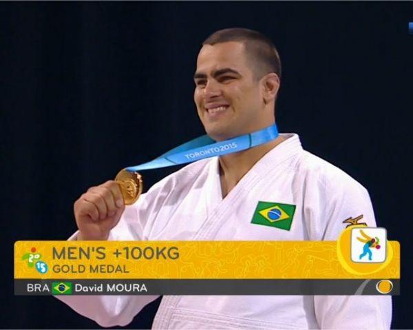 Judoca cuiabano vence equatoriano em 13 segundos e ganha medalha de ouro no Pan-Americano;   fotos e vídeos