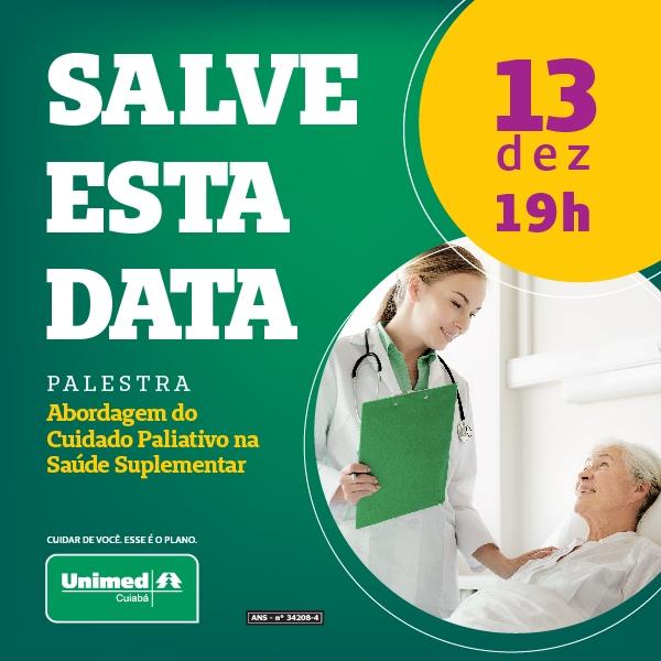 Unimed Cuiabá promove palestra sobre cuidados paliativos