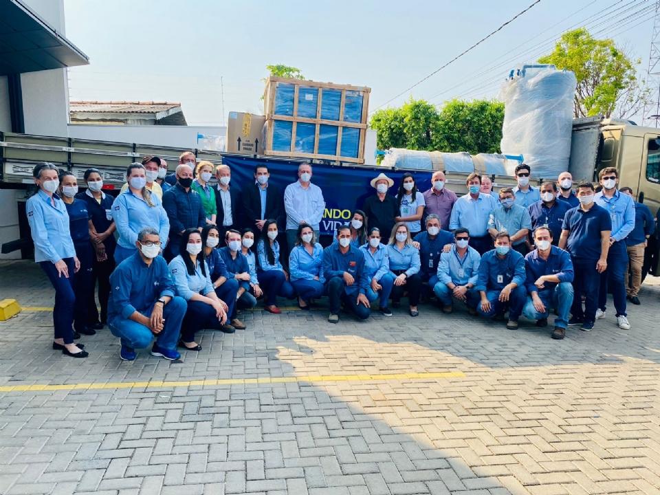 Município recebe usina de oxigênio para atender pacientes com Covid-19 através de recursos doados pela Sinop Energia