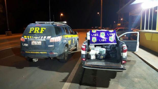Polícia Rodoviária Federal  apreende 264 kg de droga e recupera veículo roubado na BR-163
