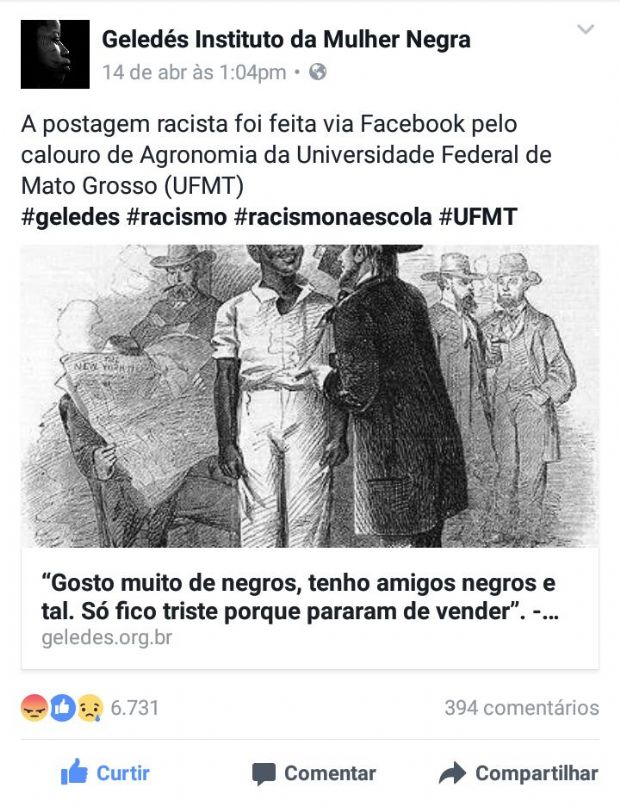 Facebook da Geledés