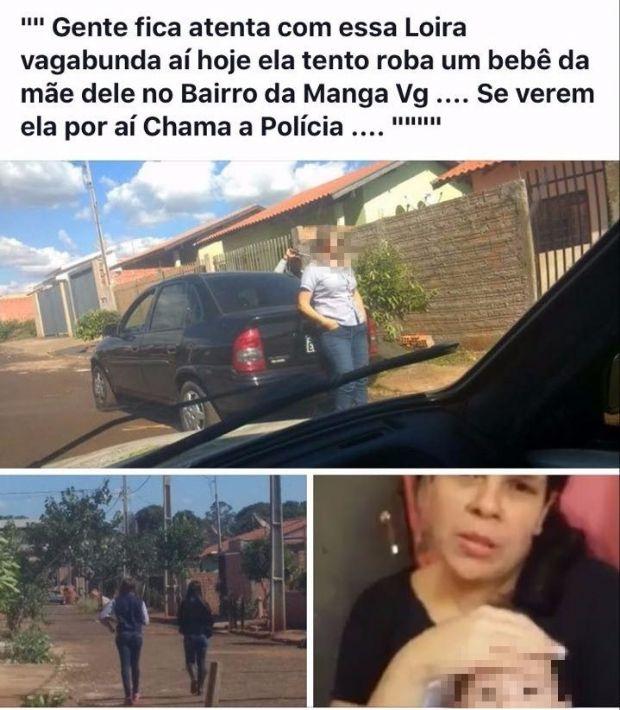 Foto com suspeita de tentar sequestrar bebê viraliza, mas pai desmente boato: 'não é ela'