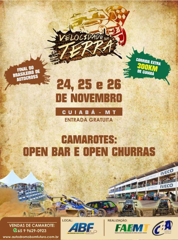 Final do brasileiro de Autocross em Cuiabá terá Open Bar e Food; ingressos à venda