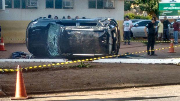 Idoso que morreu atropelado na porta de policlínica esperava para agendar exame;  fotos