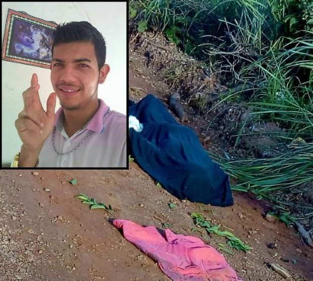 Jovem de 23 anos é executado com 12 tiros e encontrado com mãos amarradas; família recebeu foto