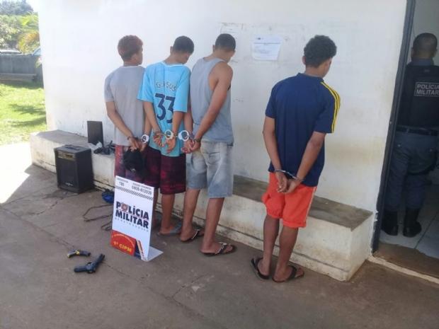 PM prende bando que atua em roubos em bairros nobres de Chapada