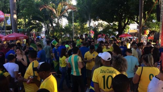 Pontos de concentração em Cuiabá e VG recebem público menor que o esperado