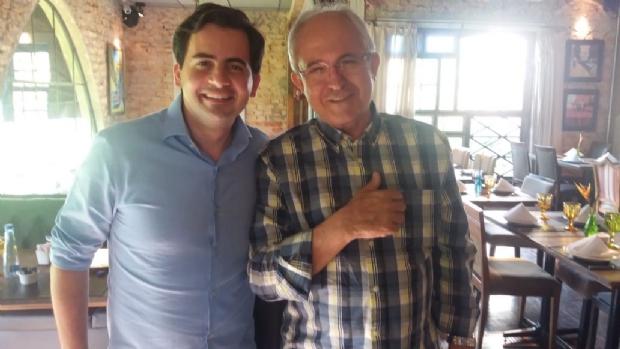 Fábio Garcia e Adilton Sachetti se reuniram na tarde desta sexta-feira (13)