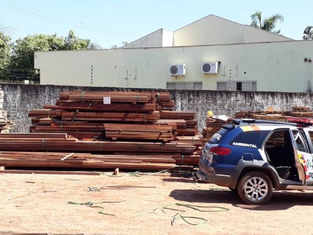 Polícia Ambiental resgata Arara, aprende arma e madeira  durante operação