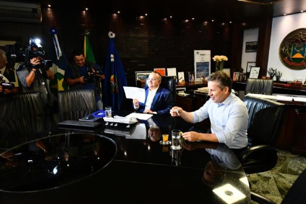 Em primeira reunião com Taques, Mauro Mendes pede permanência de Fethab 2