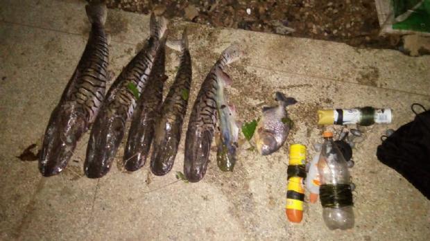 Três homens são presos por pescar sete peixes no Rio Paraguai