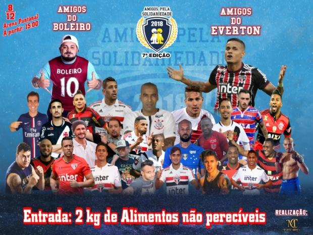 Amigos pela Solidariedade traz grandes nomes do esporte nacional e internacional para Arena Pantanal