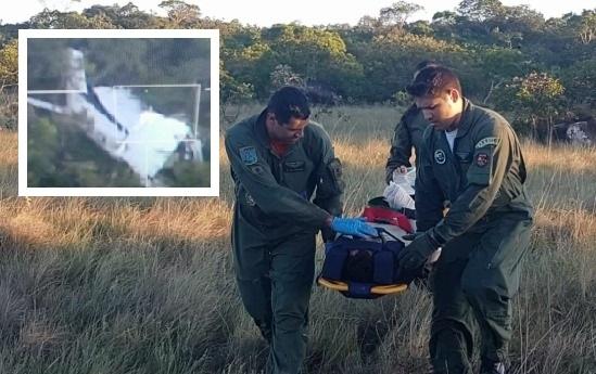 Aeronave funcionou como abrigo para tripulantes durante quatro dias na mata, diz piloto da FAB