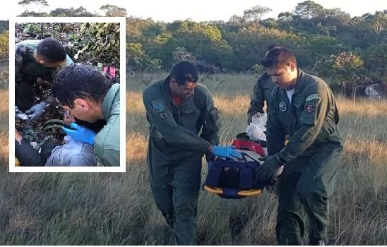Vídeo mostra resgate de vítima e situação de aeronave após queda;   assista