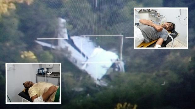 Pilotos relatam que mau tempo causou colisão de aeronave contra copa de árvore;  fotos