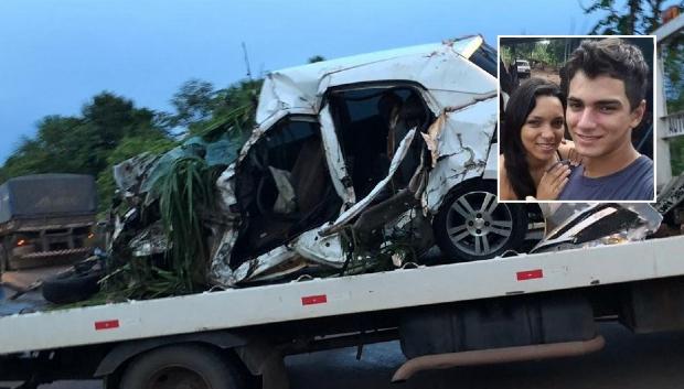Irmãos morrem em colisão entre Agile e caminhão em rodovia
