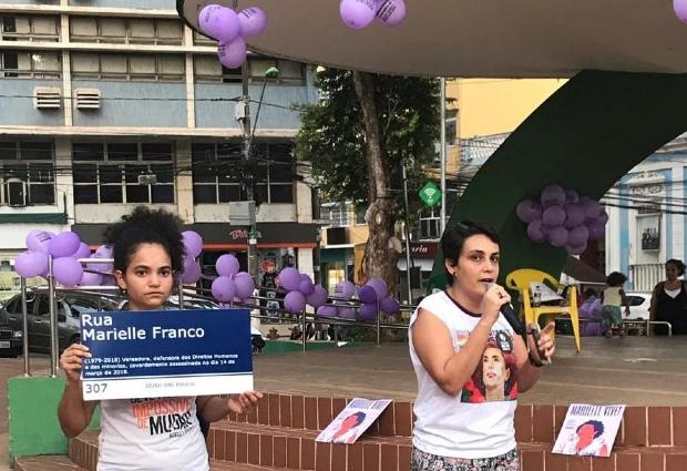 Um ano após crime, ato em memória a Marielle Franco acontece na Praça Alencastro