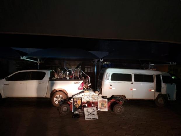 Gerente de fazenda e mais três são presos com peças de trator recheadas de cocaína; ultraleve trazia droga da Bolívia