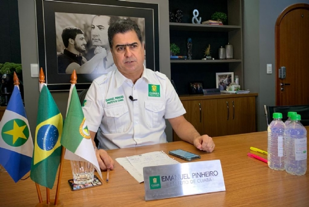 Emanuel Pinheiro fecha comércio não essencial e inicia 'lockdown' em Cuiabá