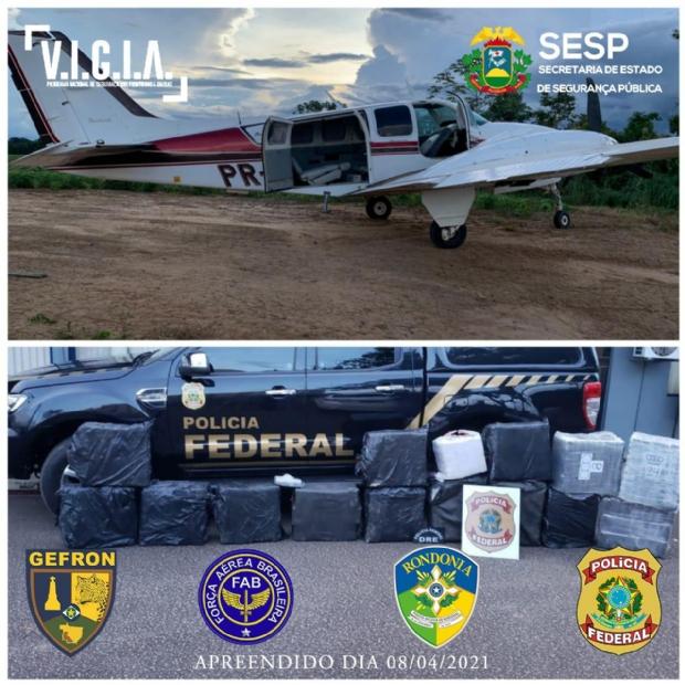 Polícia intercepta aeronave em MT com 579 kg de drogas e causa prejuízo de R$ 11 milhões a criminosos