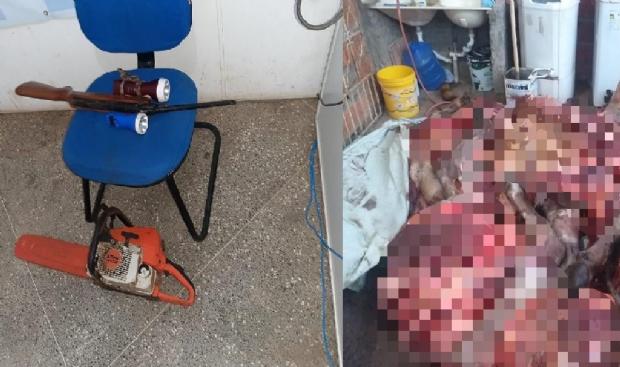 Bandido é preso após render funcionário, matar e descarnar bois de propriedade rural