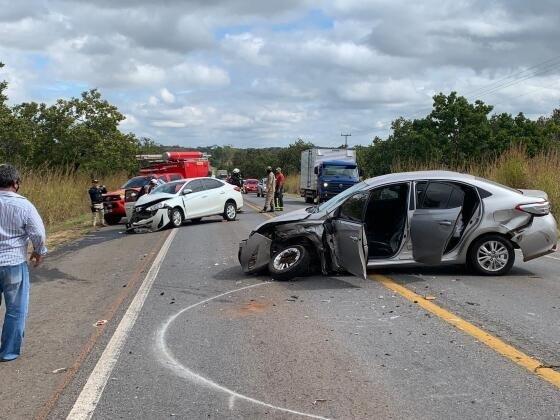Acidente na BR-070 tem quatro vítimas e uma é transferida pela Ciopaer para Cuiabá
