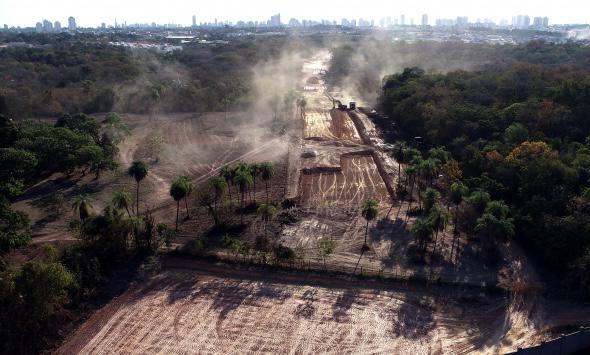 Obras avançam e nova avenida construída para ligar bairros da região Leste a Trabalhadores deve ficar pronta até o fim do ano