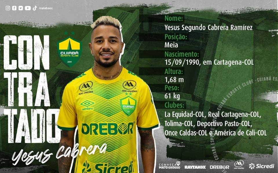 Novo reforço do Cuiabá se define como meia criador, relembra conquistas e diz estar ansioso para jogar na Arena Pantanal