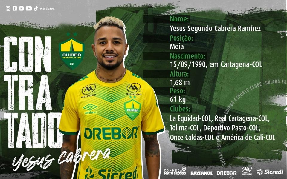 Cuiabá anuncia contratação de meio-campista colombiano que atuou na Libertadores