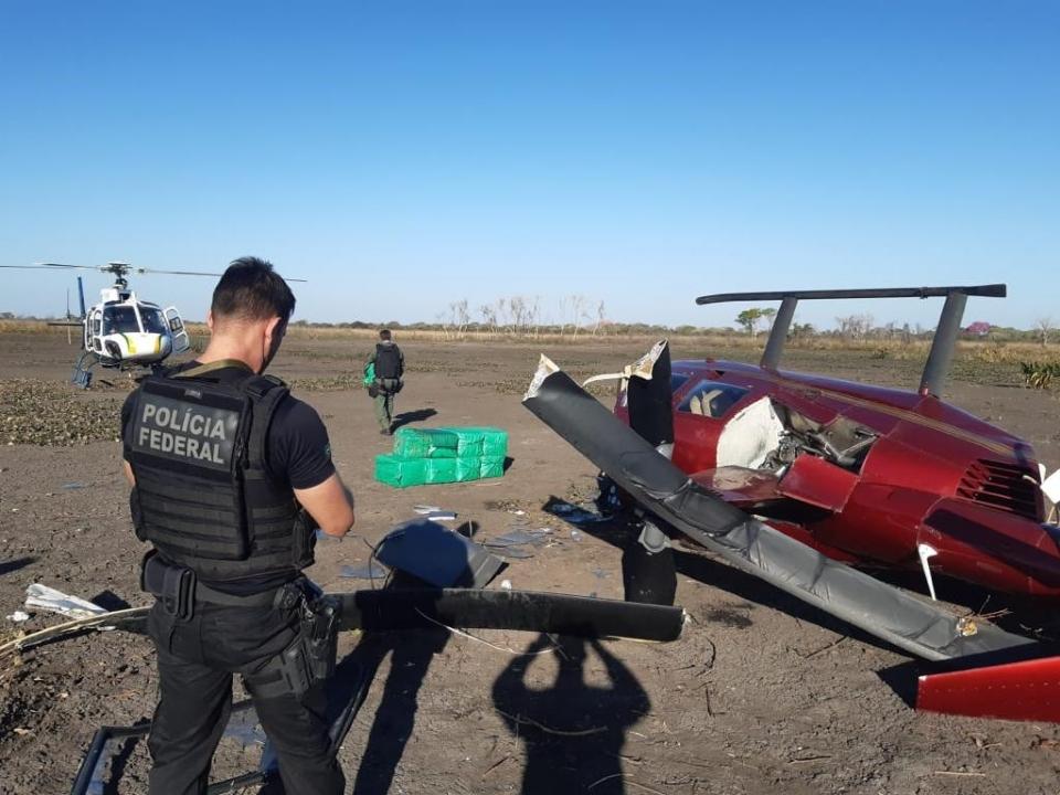 Sargento do Corpo de Bombeiros é preso e confessa ter pilotado helicóptero que caiu com quase 300 quilos de droga