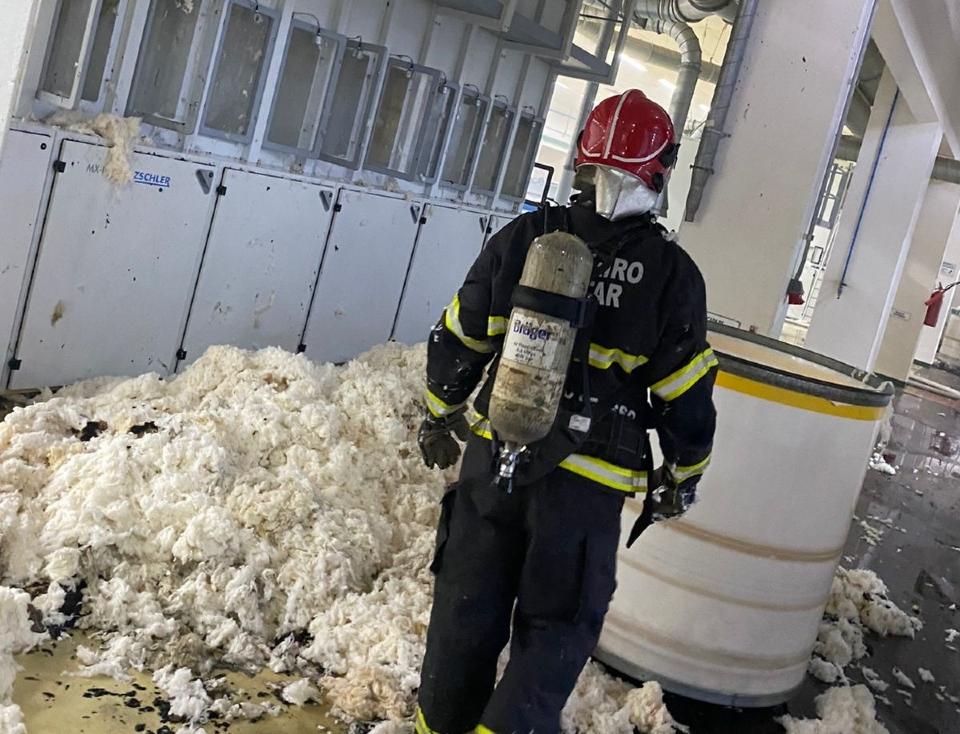 Industria têxtil é tomada por chamas no interior de Mato Grosso