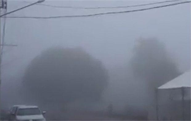Frio e neblina