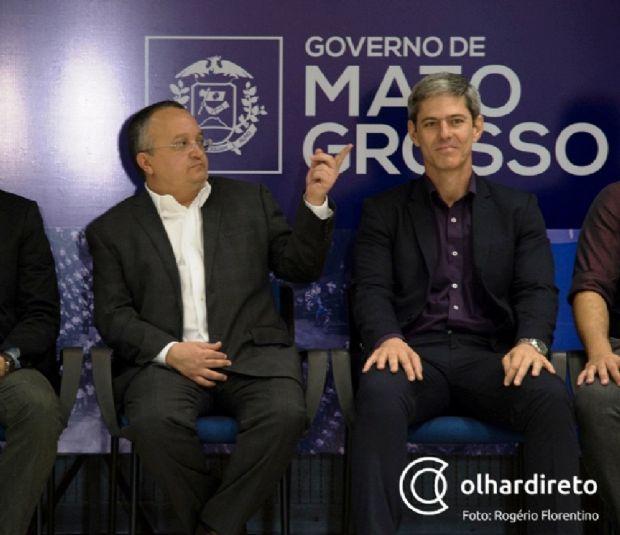 Pedro Taques já apresentava sinais de problemas na garganta, na semana passada, em cerimônia no Palácio Paiaguás