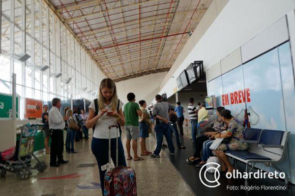 Mau tempo cancela quatro voos no aeroporto de Cuiabá