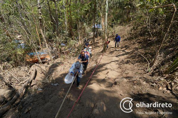 Garimpeiros voltam à Serra do Caldeirão para 'proteger' espaço de extração ilegal de ouro