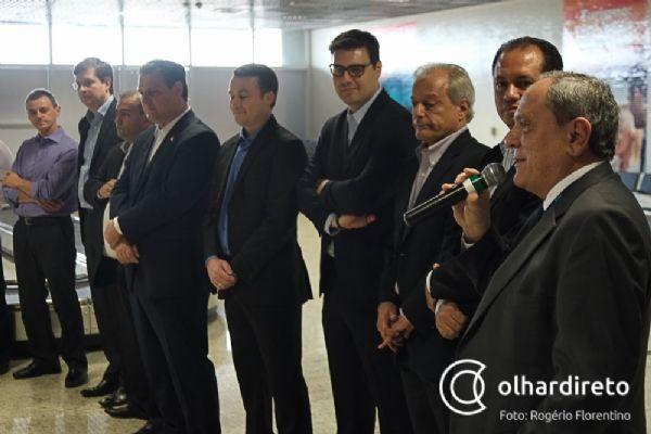 Autoridades voaram na inauguração da rota Cuiabá-Sorriso