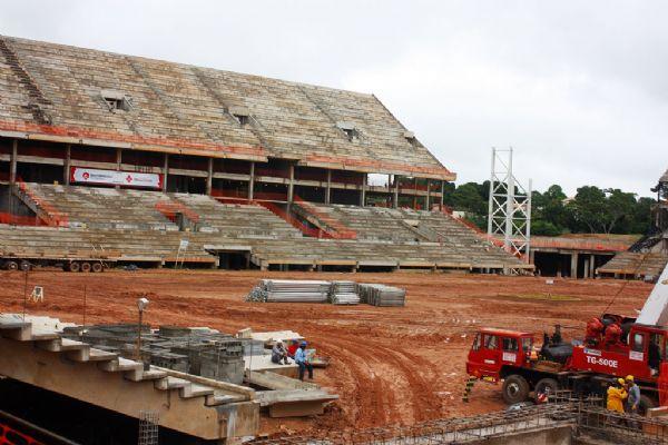 TCE 'desmente' Secopa e aponta que nova Arena está apenas 37,41% pronta