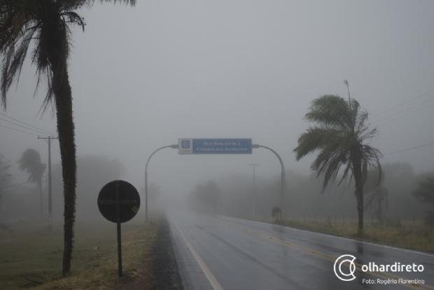 Frente fria será responsável por derrubar temperatura para 15ºC em Cuiabá e 12ºC em Chapada