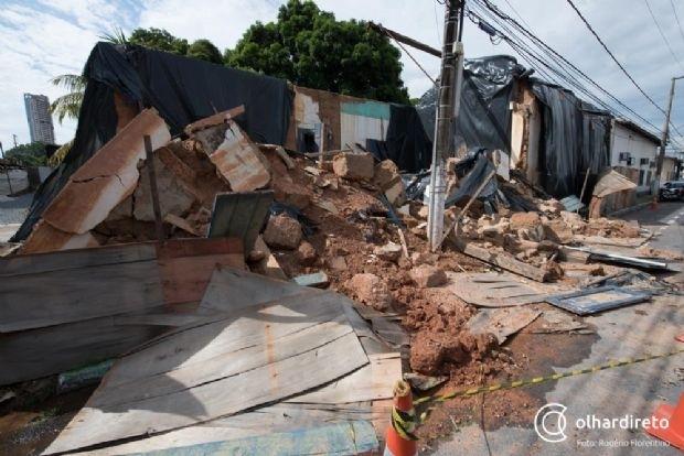 Com risco de desabamento, MP cobra providências da Prefeitura sobre a 'Casa Bem Bem'
