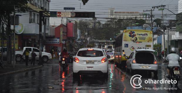 Cuiabá tem previsão de 80% de chuva na semana; Chapada terá mínima de 19ºC