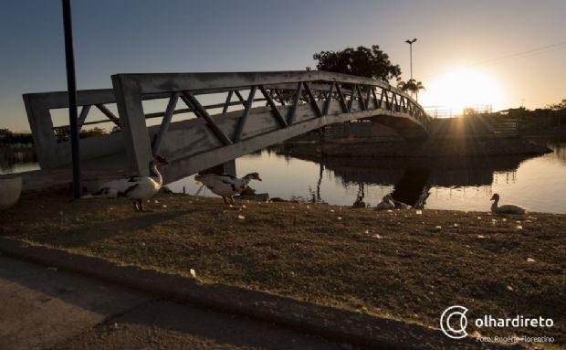 Parque Tia Nair é boa opção de lazer e prática de exercícios em Cuiabá