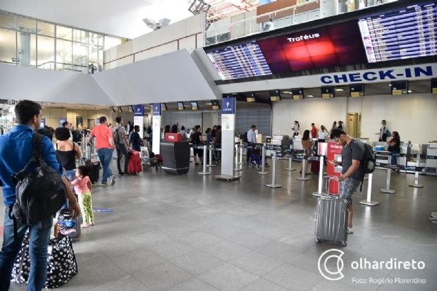 Aeroporto Marechal Rondon fica sem energia elétrica por duas horas e causa atraso em voo