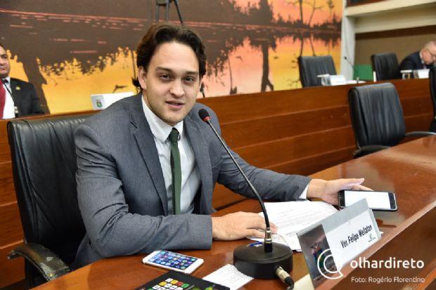 Autor da ação judicial que anulou a suplementação orçamentária, Vereador Felipe Wellaton provocou revolta nos servidores comissionados da Câmara de Cuiabá
