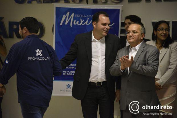 Marco Marrafon ao lado do governador Pedro Taques