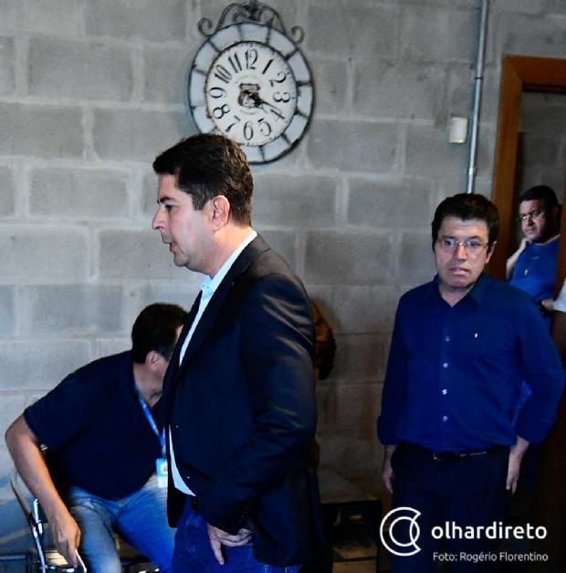 Paulo Borges e presidente diretório estadual do PSL, Victório Galli
