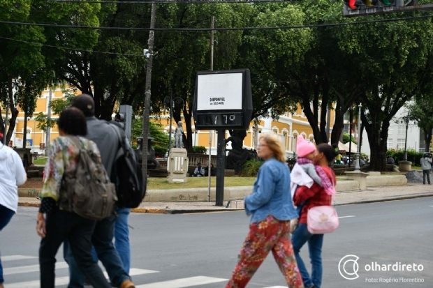 Temperatura cai novamente na capital e chega a 12ºC em Chapada