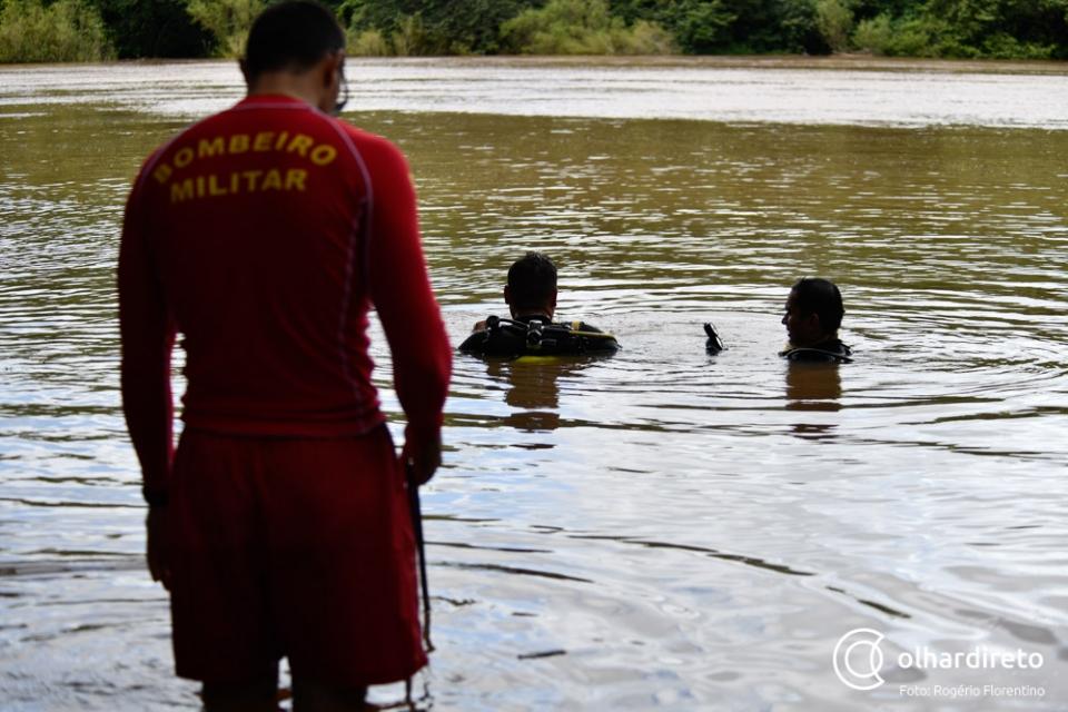 Bombeiros buscam homem que se afogou ao atravessar rio em MT